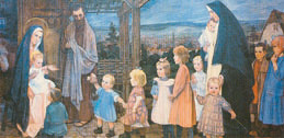 Kinder zu Jesus führen, gestaltet Sr. Amabilis