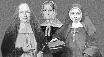 F.v.: Klara Fey, Pauline von Mallinckrodt og Franziska Schervier. Foto: PIJ-Archiv/Montage: Michael Lejeune