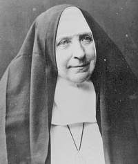 Gründerin der Schwestern vom armen Kinde Jesus: Clara Fey.